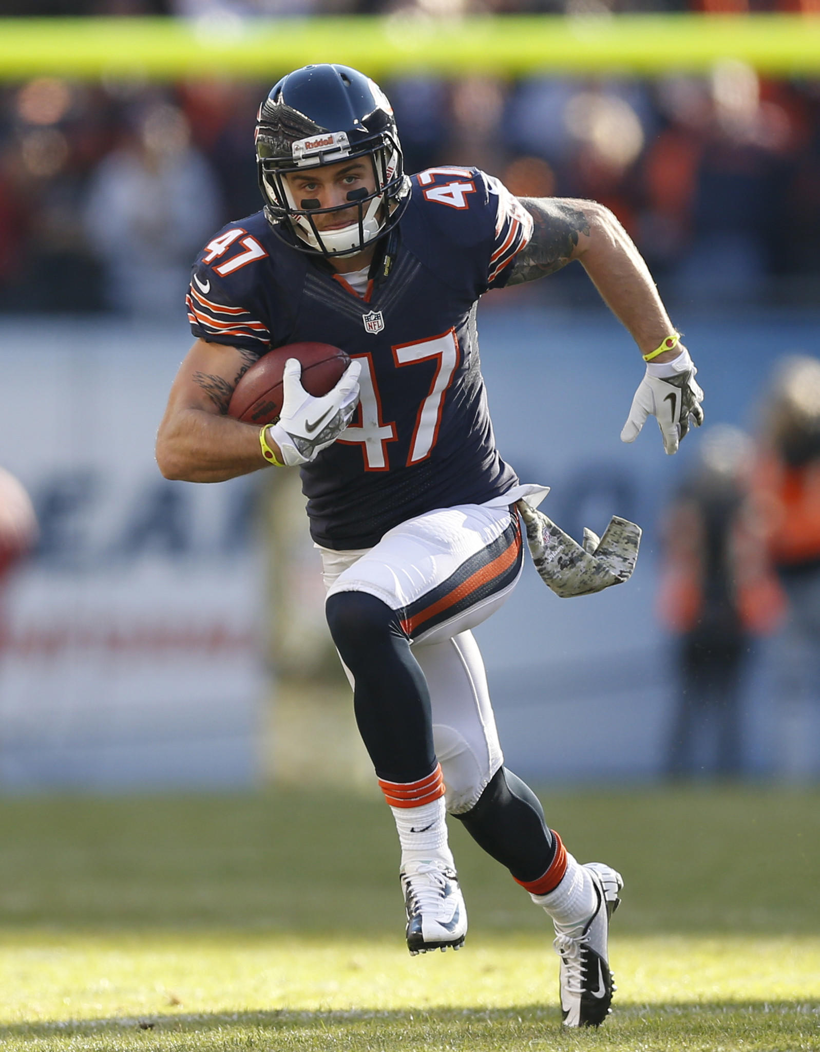 Chris Conte will be fighting to retain his starting safety job in 2014.
