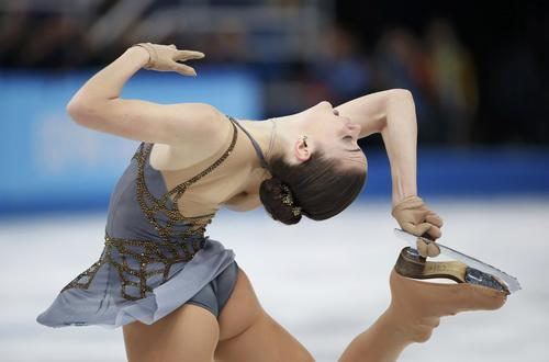 Russia's Adelina Sotnikova competes during the women's free skating program.