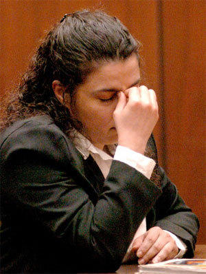 Angelina Rodriguez during her 2004 sentencing for murder. Her death sentence was upheld Thursday by the California Supreme Court
