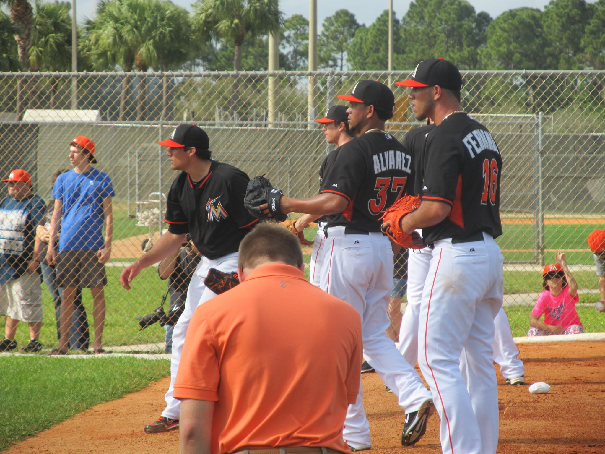 Miami Marlins first day of official workout for the full team. Feb. 20th 2014. Jupiter, Fl