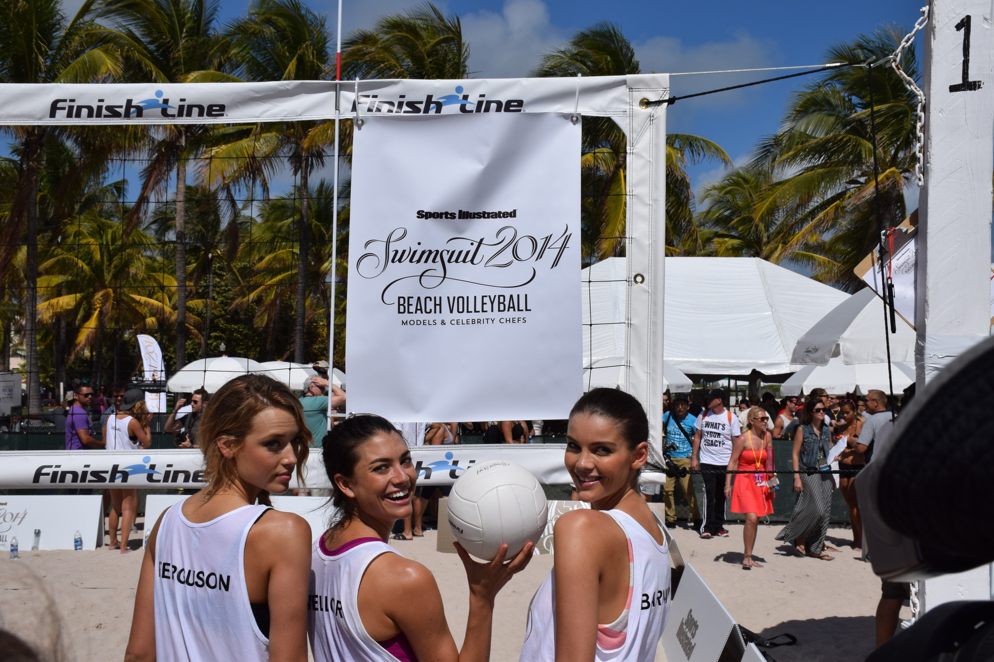Sports Illustrated Swimsuit 2014 Beach Volleyball - SI Models and volleyball
