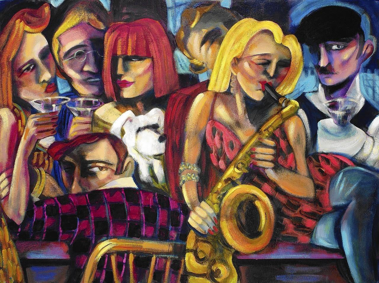 "The opening reception for ""Get Jazzed,"" a new exhibition of original paintings by Laguna Beach artist Sandra Jones Campbell, will be held from 6 to 9 p.m. Saturday at Pacific Edge Gallery."