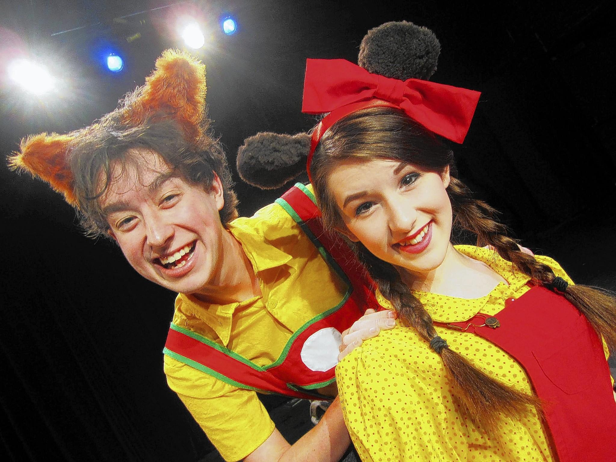 Michael Thibodeau and Kayla Alvarez star in 'Busytown.'