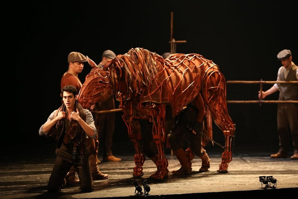 "Michael Wyatt Cox, foreground stars in ""War Horse."""