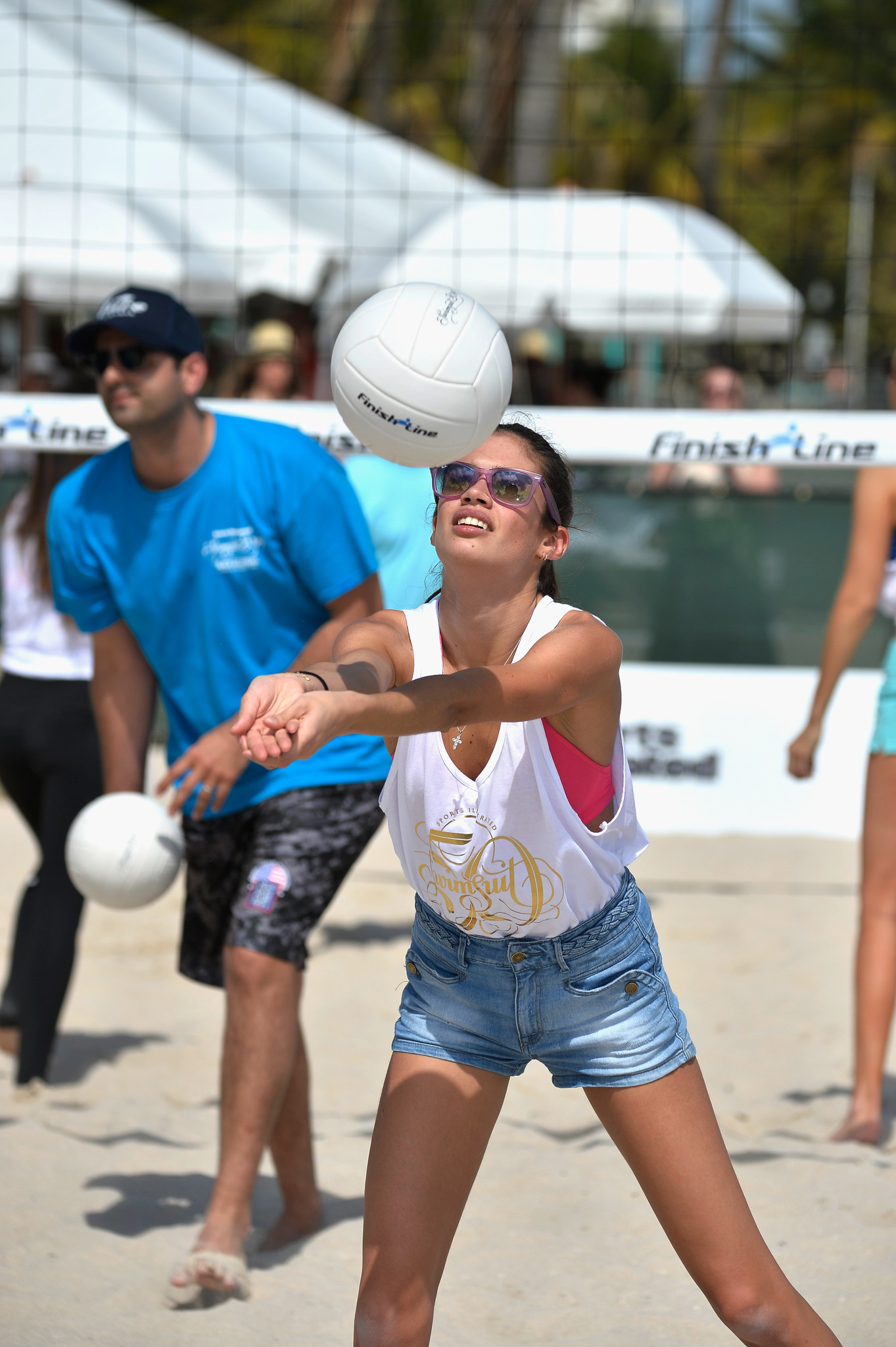 Sports Illustrated Swimsuit 2014 Beach Volleyball - Sports Illustrated Swimsuit Beach Volleyball Tournament on Ocean Drive
