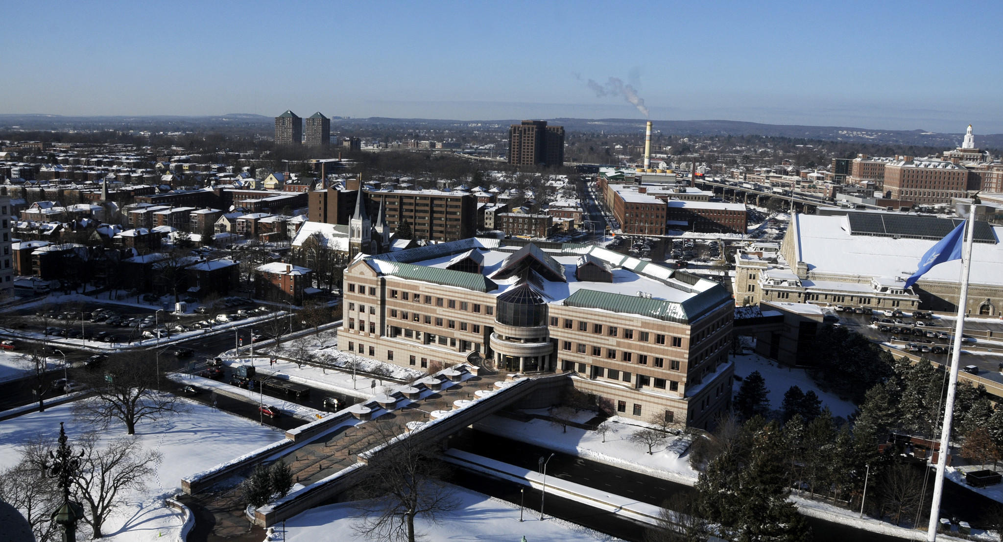 Federal agents were busy Thursday at the Legislative Office Building in Hartford, where they reviewed records and interviewed lawmakers and staff members.