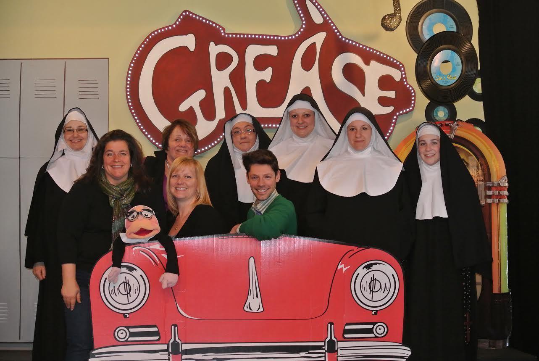 Cast&Crew of Nunsense: Paula Kuenzler, Susan Accetura, Nikki Currie-Huggard, Coreen Thompson, Noel-Marie Karvoski, Kevin Barlowski, Lauren Rozeck, Jennifer Jensen, Jessica Turgeon.