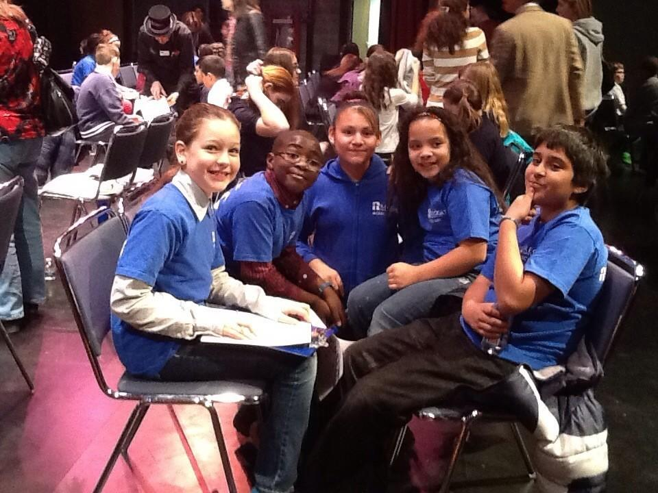 From left to right: Hazel Hill, Jaylen Andrade, Yasmine Escalona, Samara Irizarry, and Tariq Chaudhary.