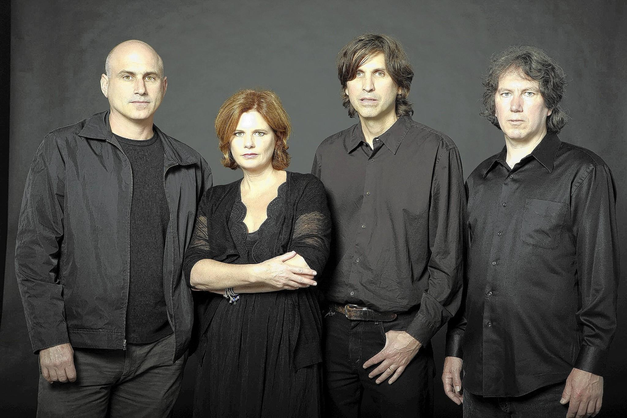 The Cowboy Junkies -- Peter Timmins, Margo Timmins, Michael Timmins, Alan Anton -- perform at Musikfest Cafe.