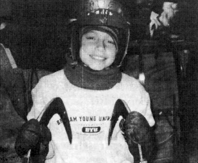 Kate Hansen at age 11, featured in a February 2004 Valley Sun story article about being chosen to participate in a luge screening camp in Lake Placid, N.Y.