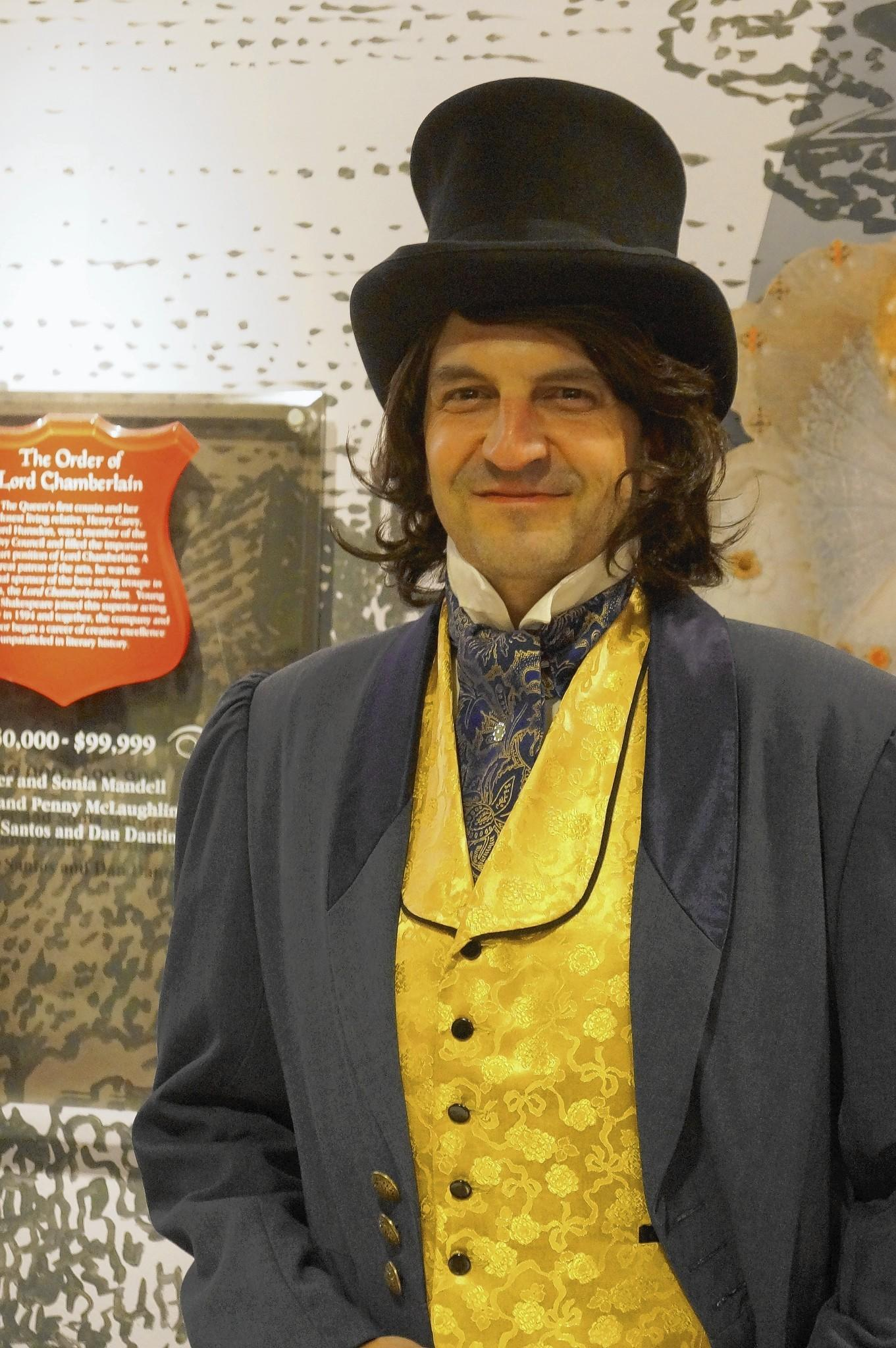 "Jay Becker portrays Charles Dickens during Orlando's yearlong ""What the Dickens"" celebration."