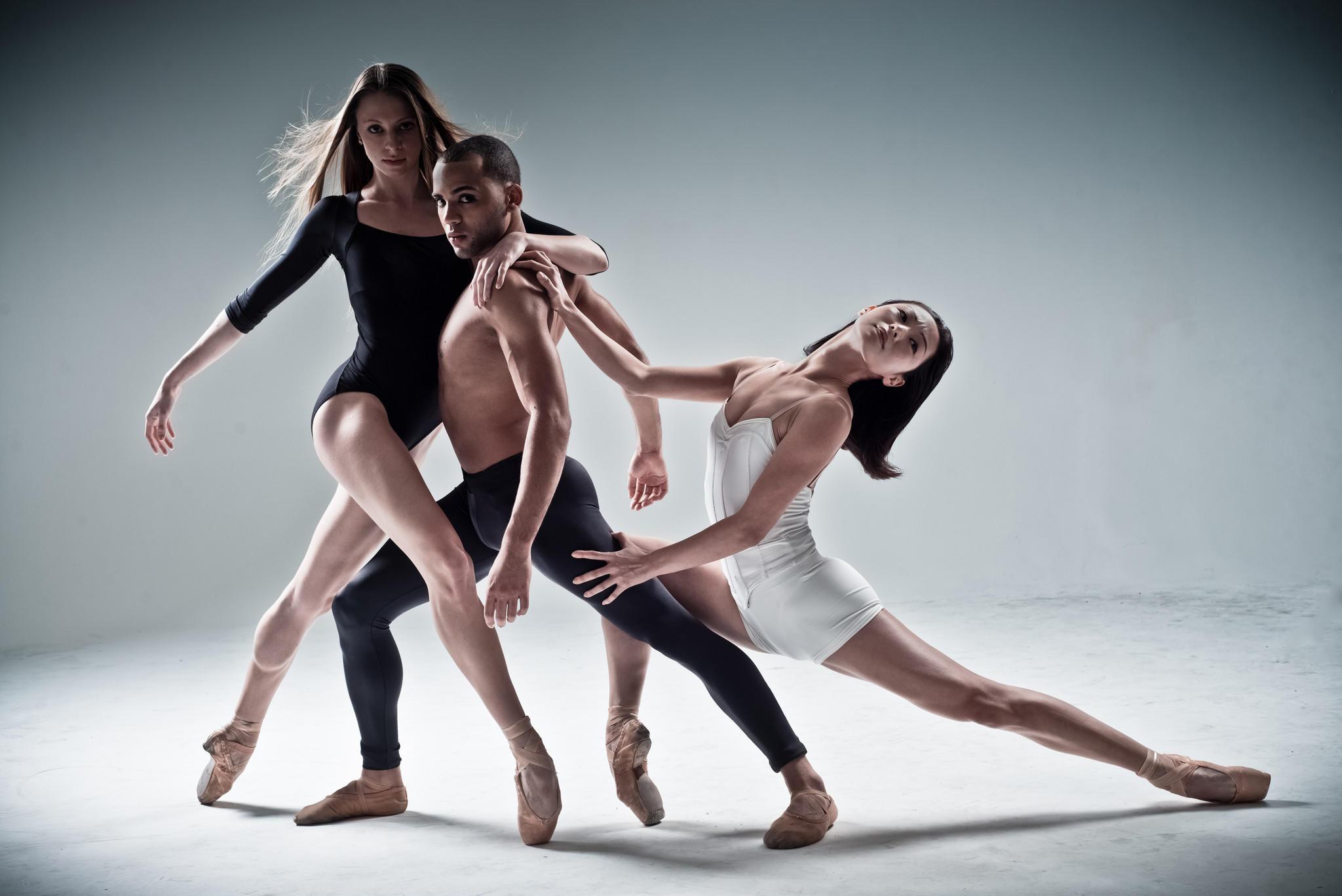 Orlando Ballet dancers Lilliana Hagerman, Telmo Moreira and Areum Chung.