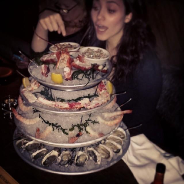 Actress Emmy Rossum dines at Kinmont Feb. 11, 2014.