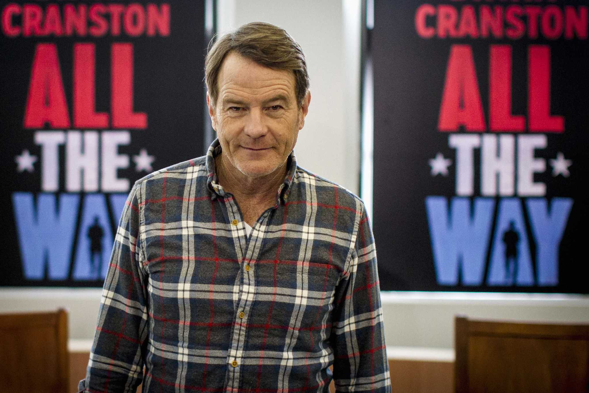 "Actor Bryan Cranston poses during a photocall for his new Broadway play ""All the Way"" at a Manhattan studio in New York. Hollywood stars are lighting up Broadway in limited-run plays that can be box office gold for the theater industry and give film and television actors a prestigious career boost."