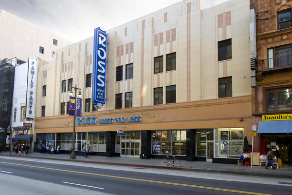 The former Woolworth's store on Broadway in downtown Los Angeles is now home to Ross Dress For Less.