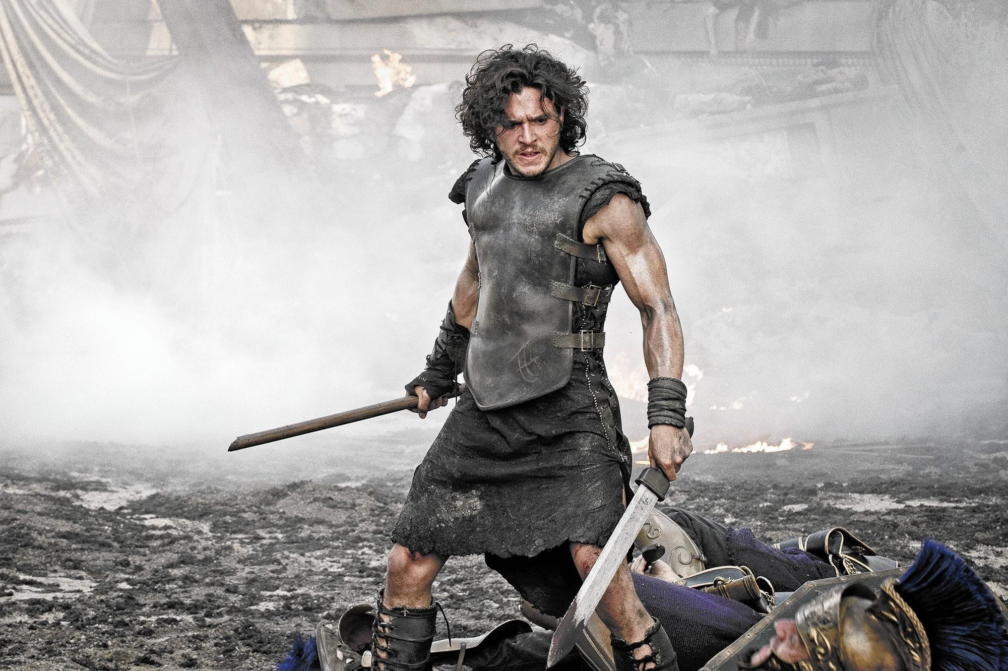 "Milo (Kit Harington) in TriStar Pictures' ""Pompeii."""