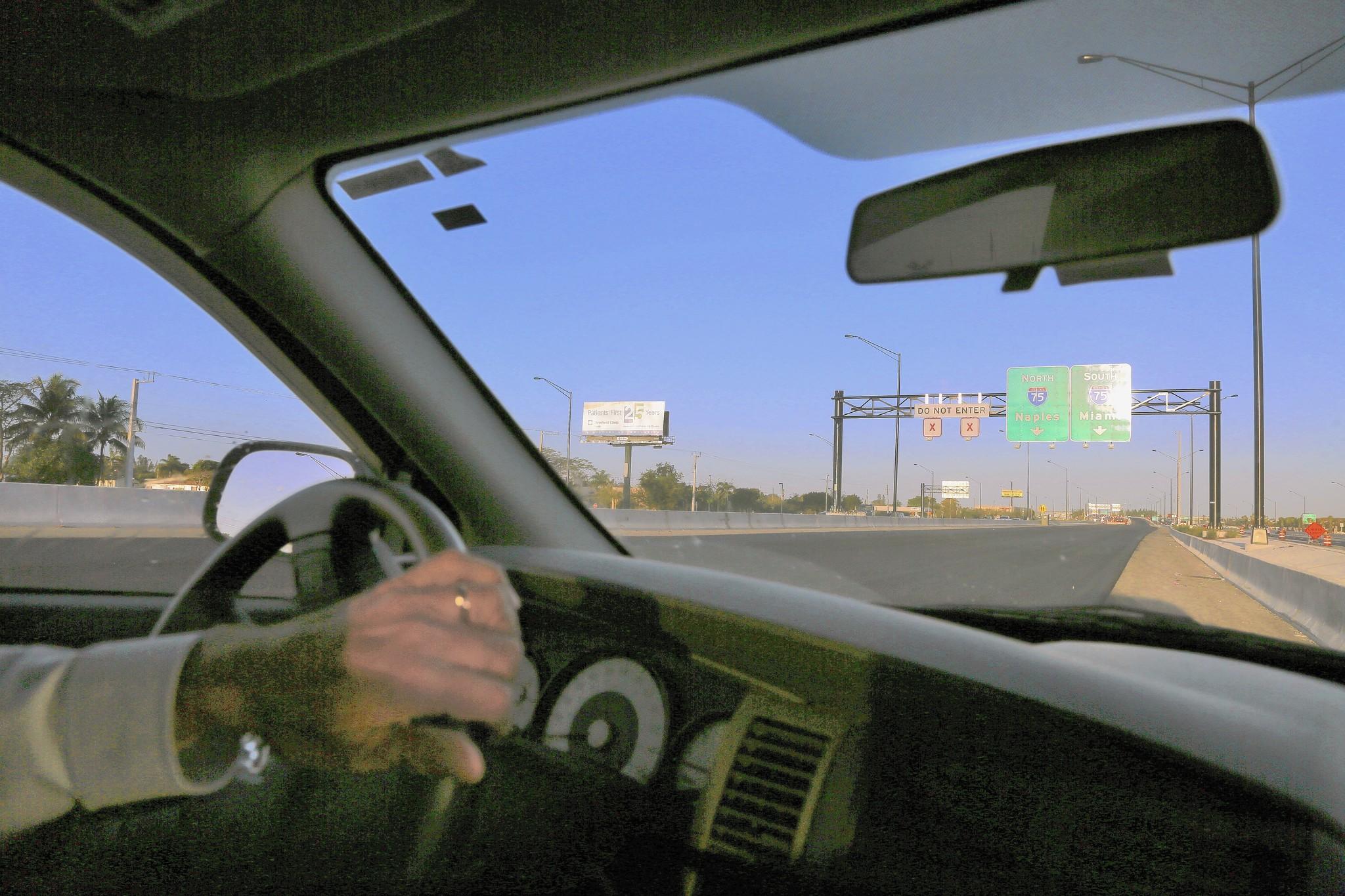 Westbound I-595 reversible lanes on Friday, Feb. 21, 2014.