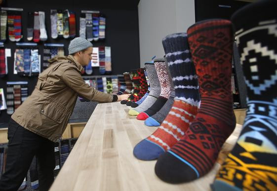 Stance is a designer sock company in San Clemente. And the way Chief Executive Jeff Kearl sees it, creativity is the key to the company's success in the competitive retail marketplace. He and the company's co-founder set out to create a workspace that would feed his employees' creative energy. Here's a behind-the-scenes look at that endeavor. The difference is clear, right at the front door. There are no suits and ties, no stodgy cubicles. Employees are encouraged to dress in whatever manner suits the duties for the day. Here, product designer Dillon Boyes work