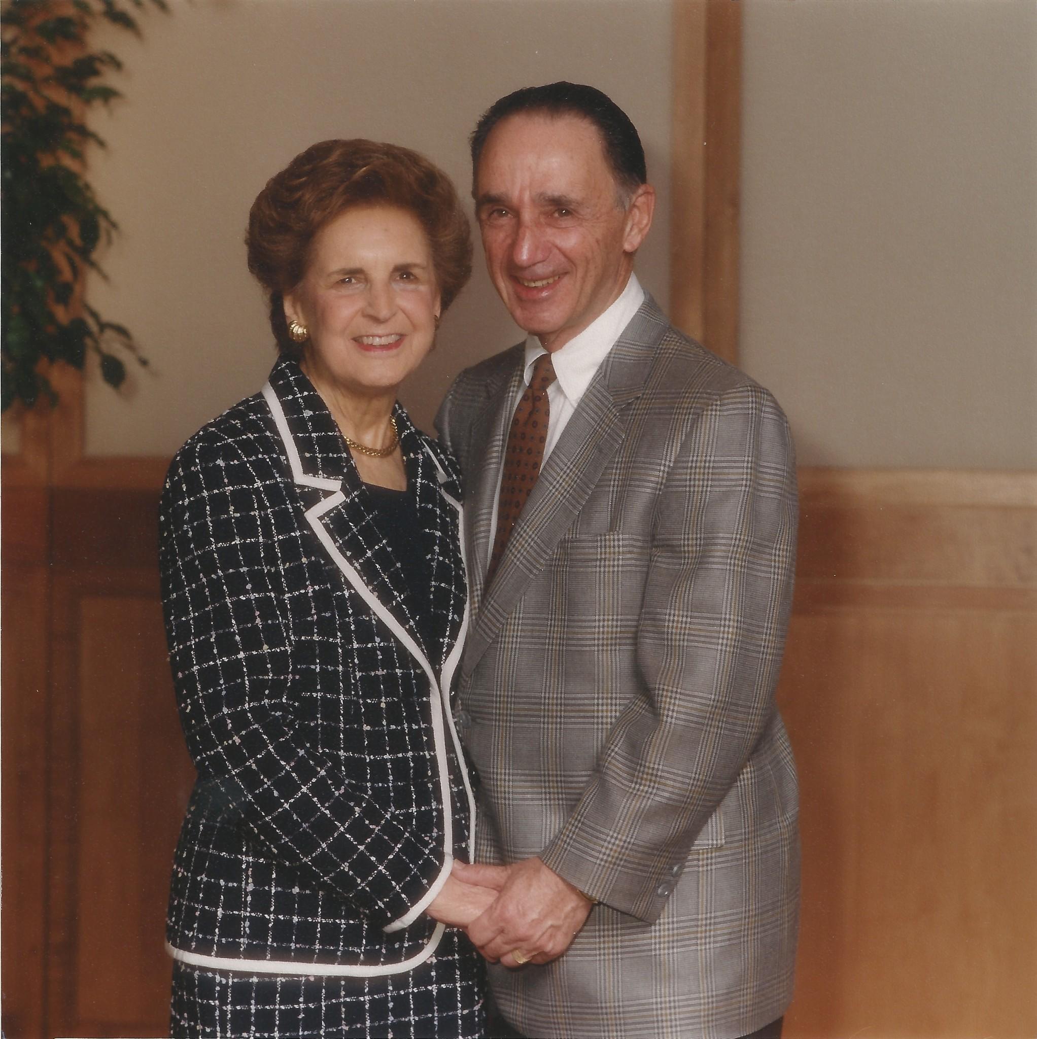 "Eleanor ""Ellie"" Meyerhoff Katz and Herb Katz are seen in this photo."