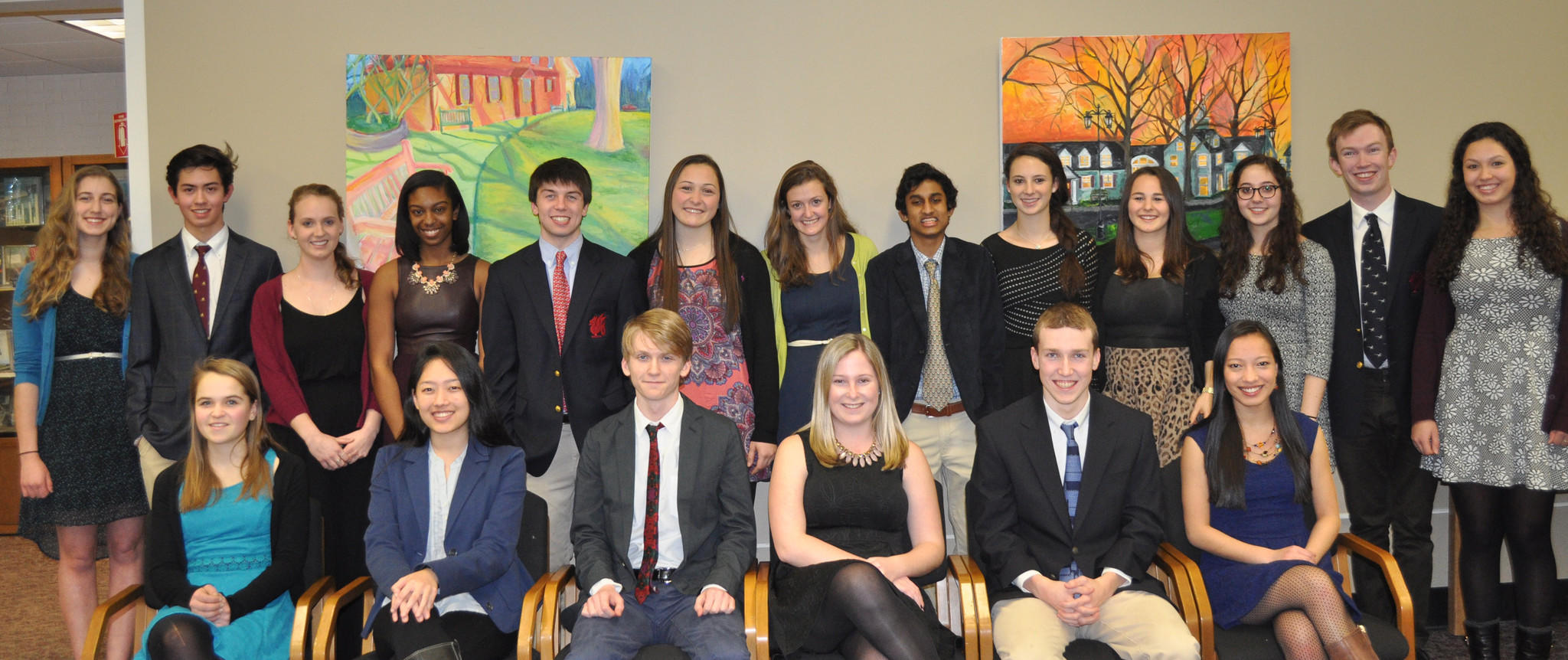 Nineteen members of the Class of '14 were inducted into Kingswood Oxford's chapter of the Cum Laude honor society on Feb. 19. Attorney Chris Shea '02 of West Hartford was the keynote speaker.