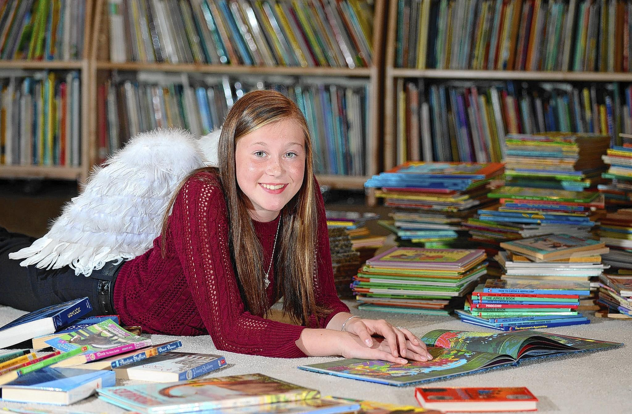 Allyse Danyi of Nazareth donated 584 books this year to the Cops 'N' Kids Children's Literacy Program.