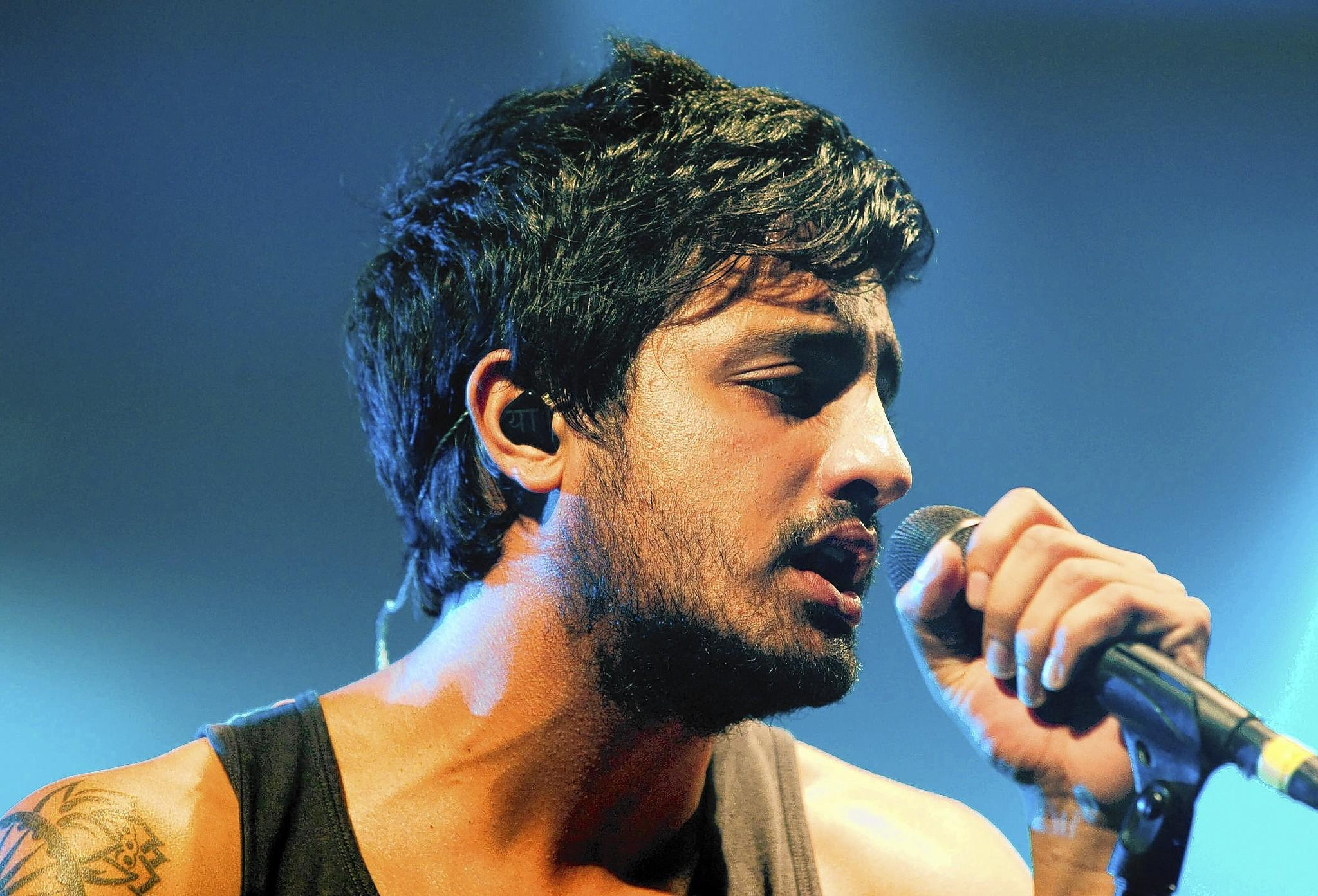 Young the Giant's Sameer Gadhia performs at Bethlehem's Musikfest in 2012.