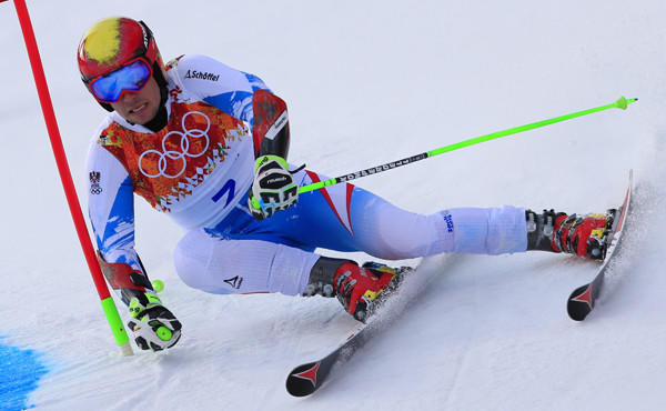 Austria's Marcel Hirscher is considered a favorite to win the men's slalom at the Sochi Winter Olympic Games on Saturday.