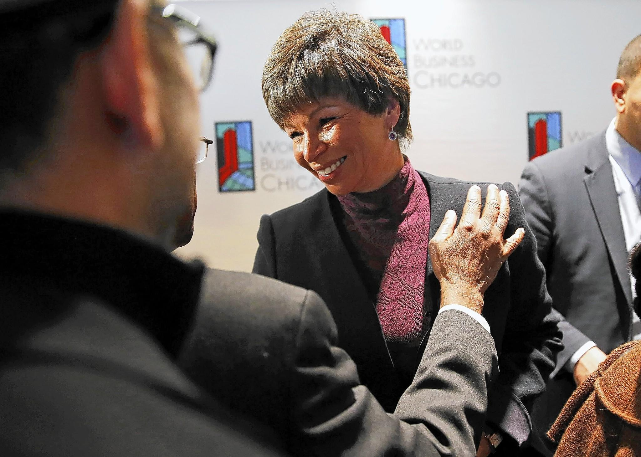 Valerie Jarrett, an adviser to President Barack Obama, took John Kass' seat ever so briefly while he was away.