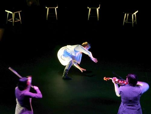 "<b>MULTIMEDIA:</b> Ellen Fisher dances during Meredith Monk and Ann Hamilton's ""Songs of Ascension."""