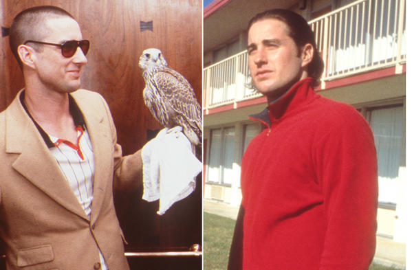 A collage of actor Luke Wilson in various Wes Anderson films.