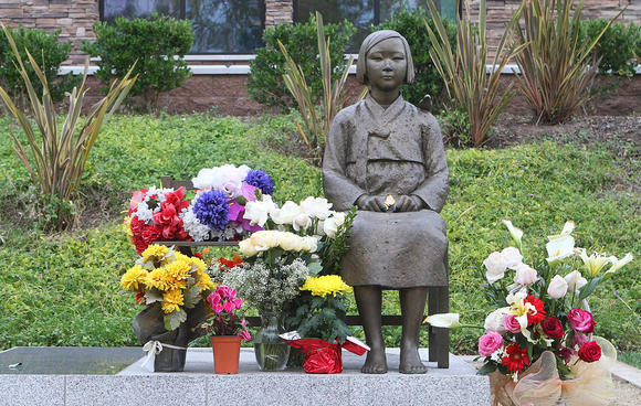 "The ""comfort women"" statue in Glendale's Central Park."