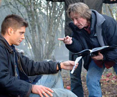 Jensen Ackles and 'Supernatural' executive producer-director Kim Manners