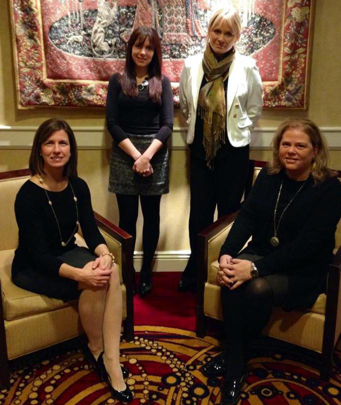 Sales Champions from the Mystic Marriott Hotel & Spa: from left to right: Sherri Mancini, director of Business Development; Amanda Brisson, senior Catering Sales manager; Darcey Eck, Sales & Events manager; and Judy Mackey, senior sales manager