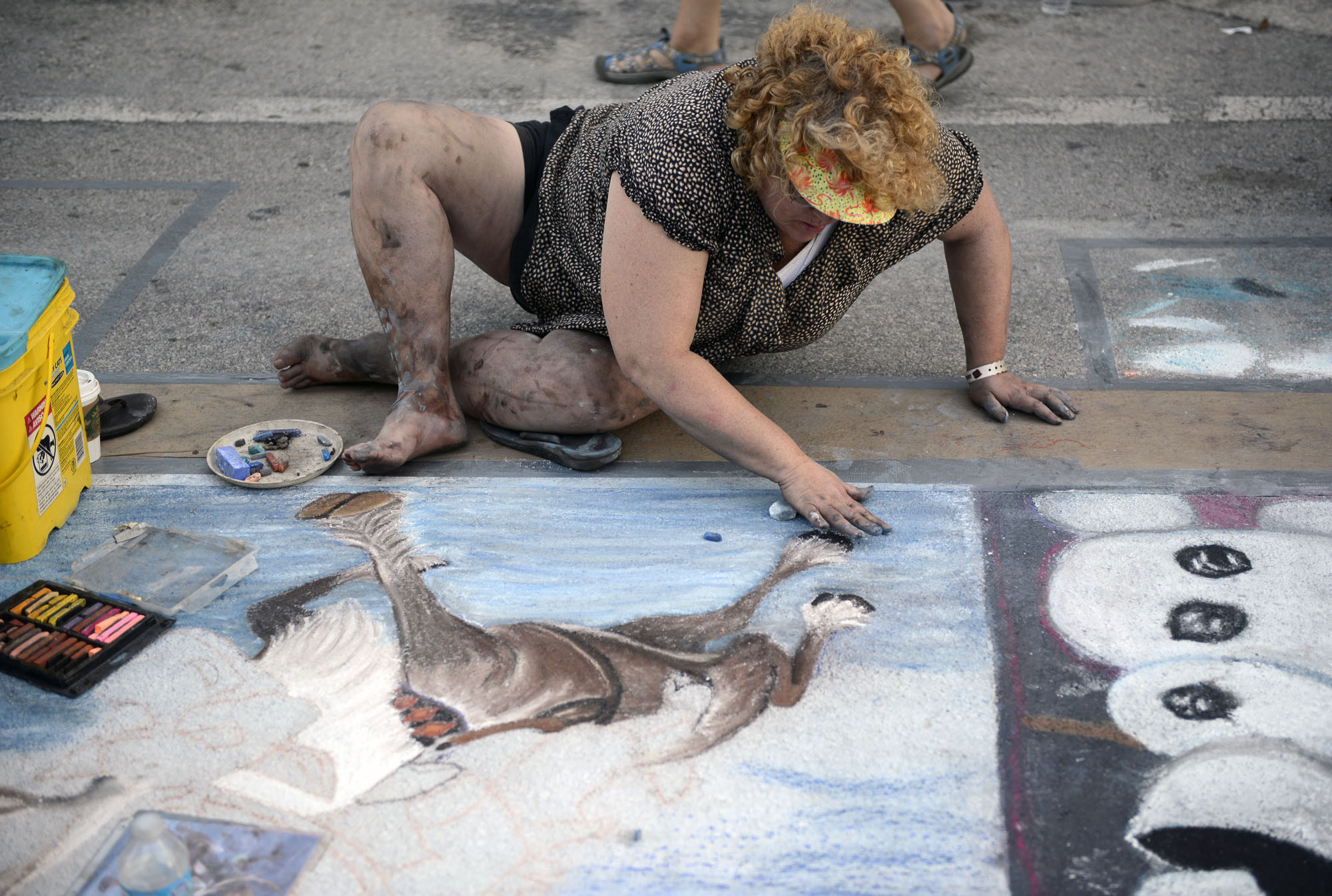 Lake Worth Street Painting Festival - Painting the streets