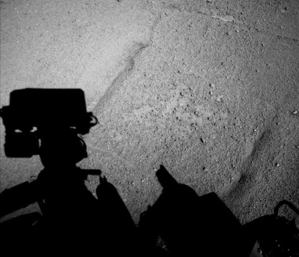 Mars rover Curiosity shadow