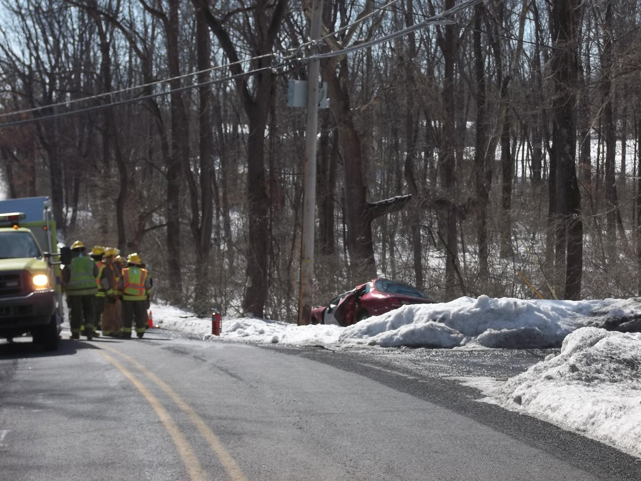 40-year-old Tonia Aman was killed after she lost control of her vehicle and crashed into a utility pole on Rutt Road in Washington Township on Saturday afternoon, police said.