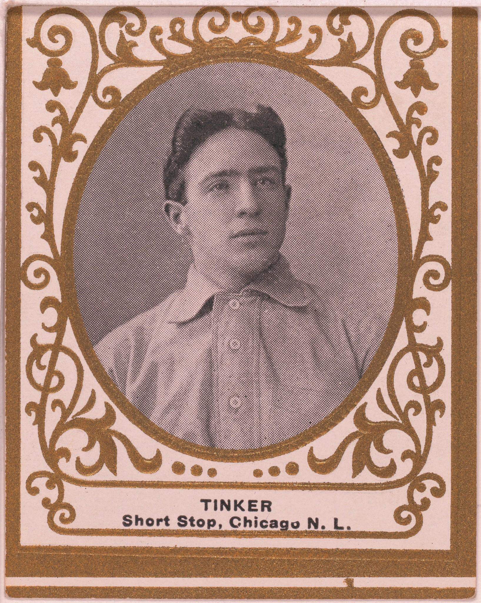 Joe Tinker, for whom Orlando's baseball field is named, appears on a 1909 baseball card during his days with the Chicago Cubs. He later moved to Orlando to manage the city's baseball team.