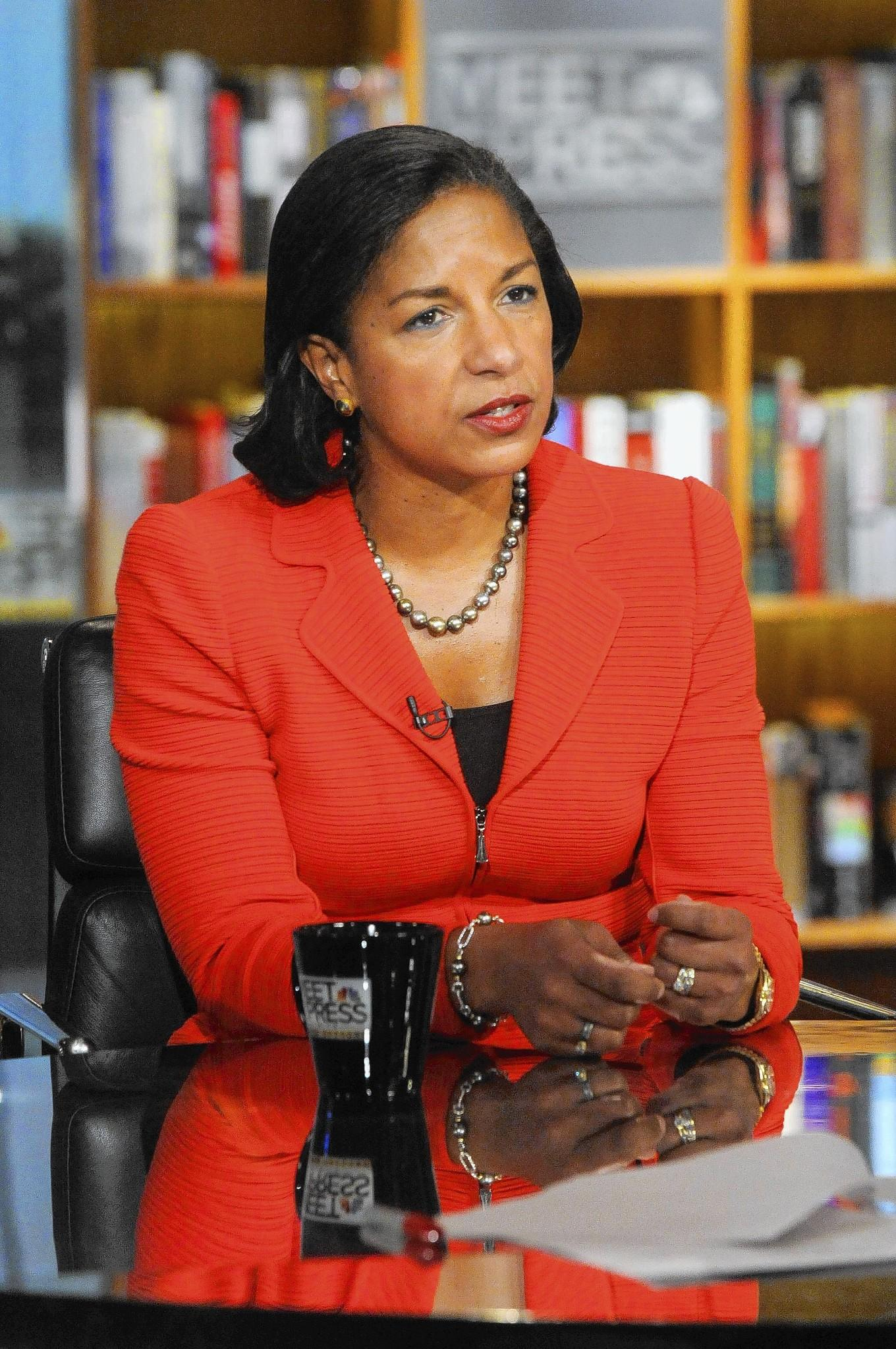 "Susan Rice, National Security Adviser, appearing on ""Meet the Press"" in Washington"