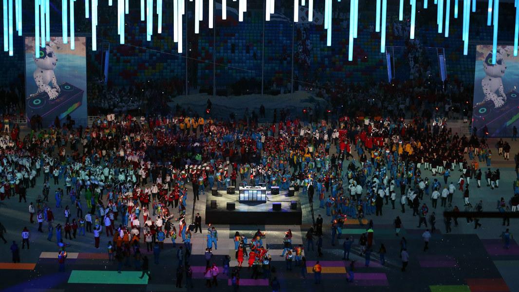 2014 Winter Olympics closing ceremony photos