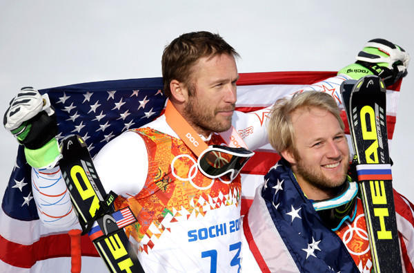 Bode Miller, left, and Andrew Weibrecht gave the U.S. a big boost when they won bronze and silver medals, respectively, in the super giant slalom on Day 9 of the Sochi Olympics.