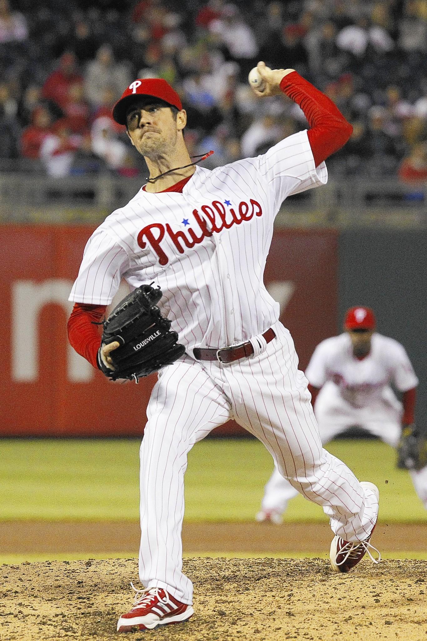 Phillies starting pitcher Cole Hamels is behind schedule this spring because of shoulder tendinitis.