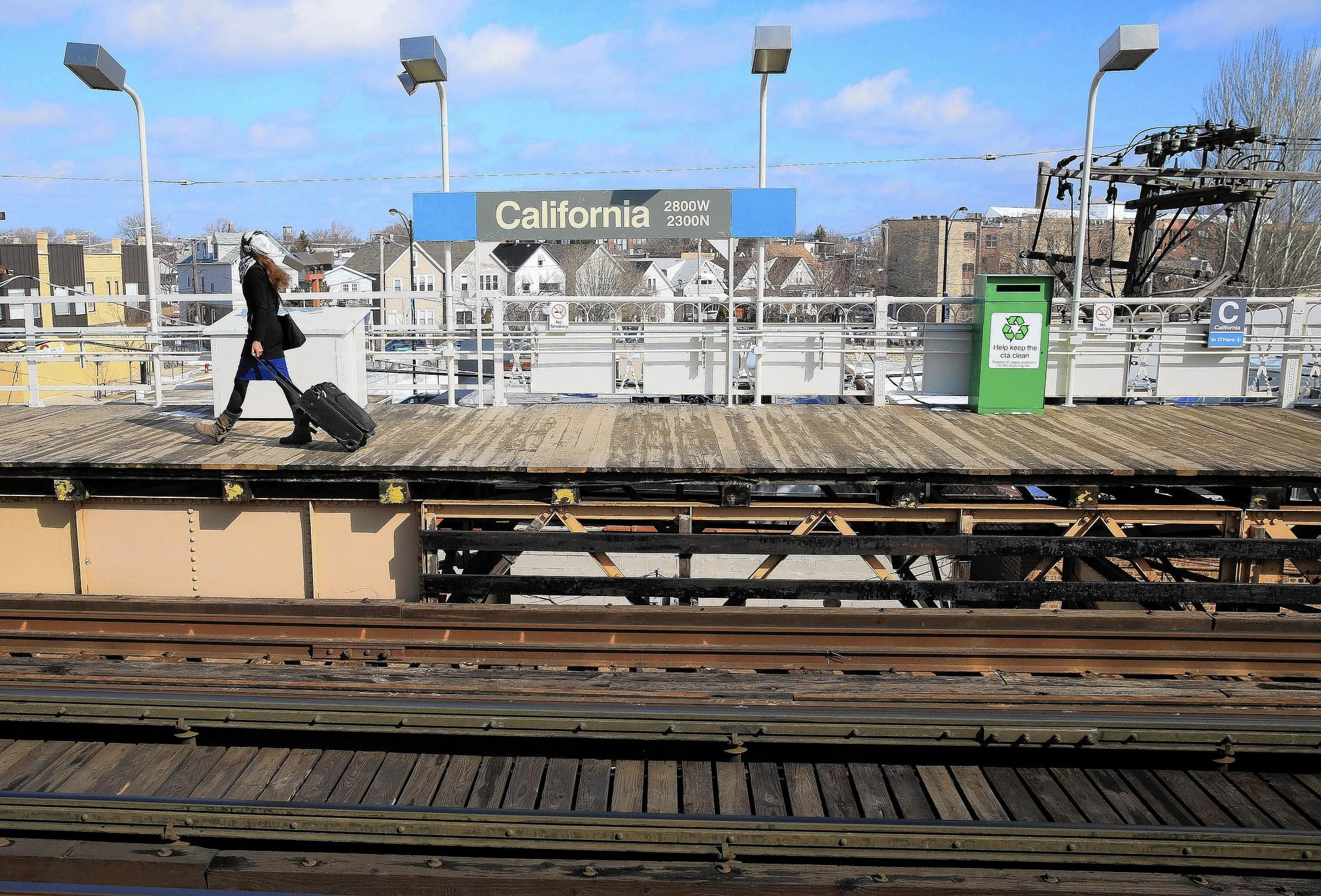 The Blue Line's California station is on the segment to be upgraded over the spring and summer.