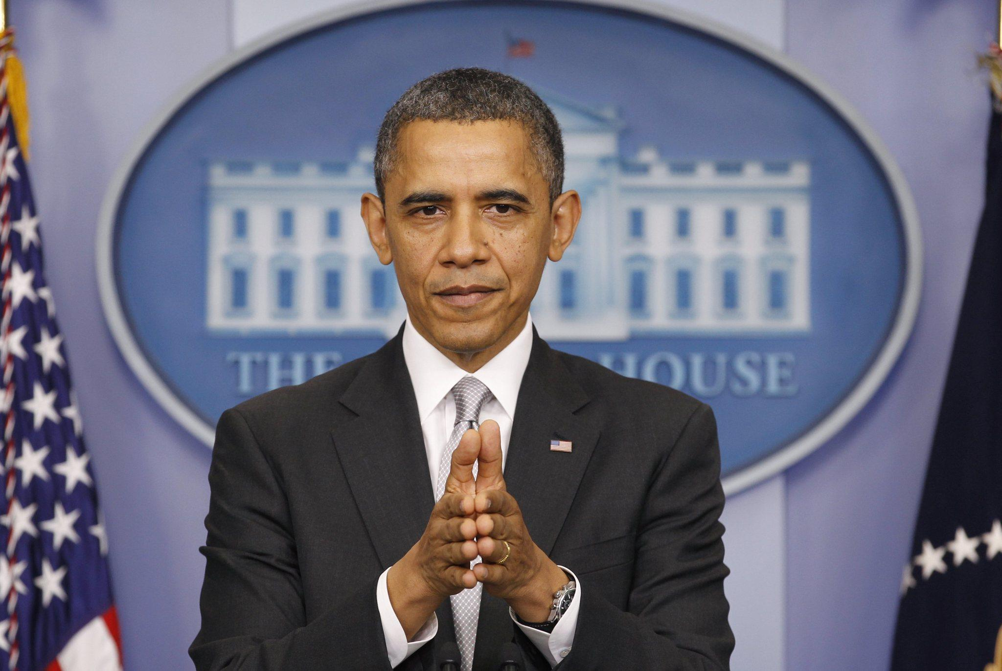 President Barack Obama addresses members of the media in the White House Briefing Room in this December 19, 2012 file photo.