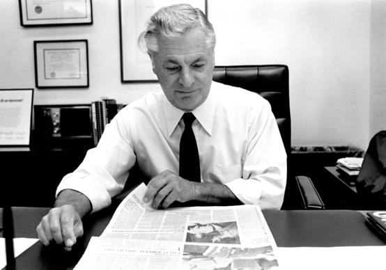 Los Angeles Times editor William F. Thomas in 1983.