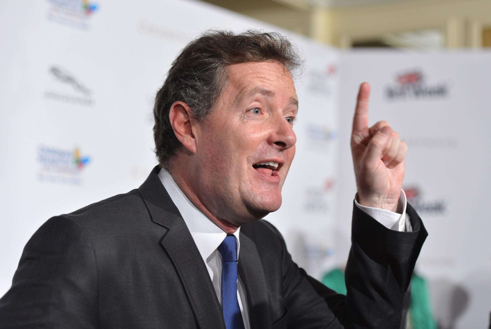 "TV host Piers Morgan arrives at BritWeek 2012's ""Evening with Piers Morgan"" on May 4, 2012 in Beverly Hills, California."