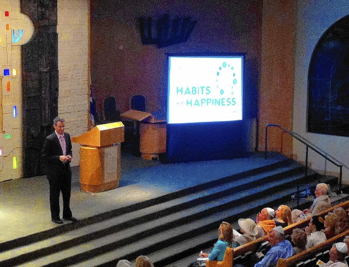 "Israeli native Tal Ben-Shahar presents the seminar titled ""Habits of Happiness."""
