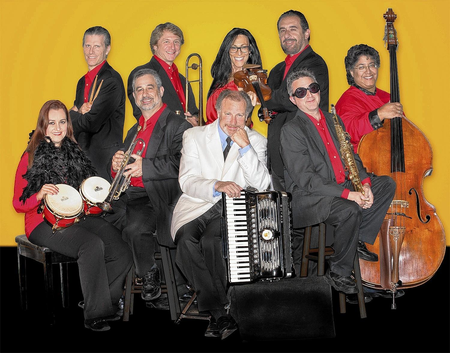 "The Klezmer Company Orchestra with conductor, Maestro Aaron Kula. The orchestra will mix Klezmer melodies with Latin rhythms at ""¡JubanoJazz!,"" a concert at Florida Atlantic University on Sunday, March 2."