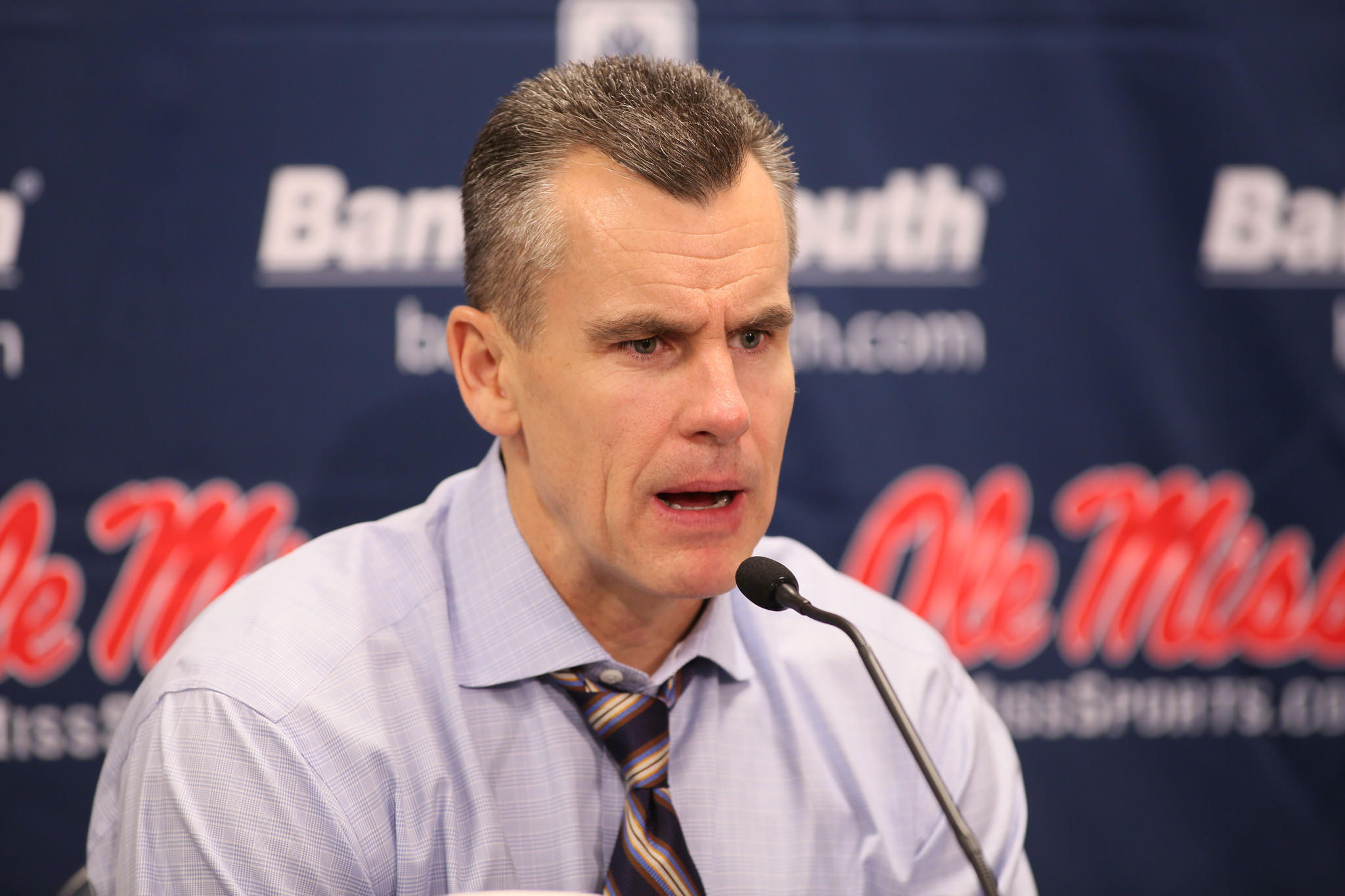 Florida coach Billy Donovan speaks to the media after the game against Mississippi on Saturday.