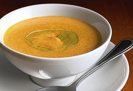 Carmel Cafe & Wine Bar's Lobster Bisque is flavored with tomatoes and carrots as well as shellfish.