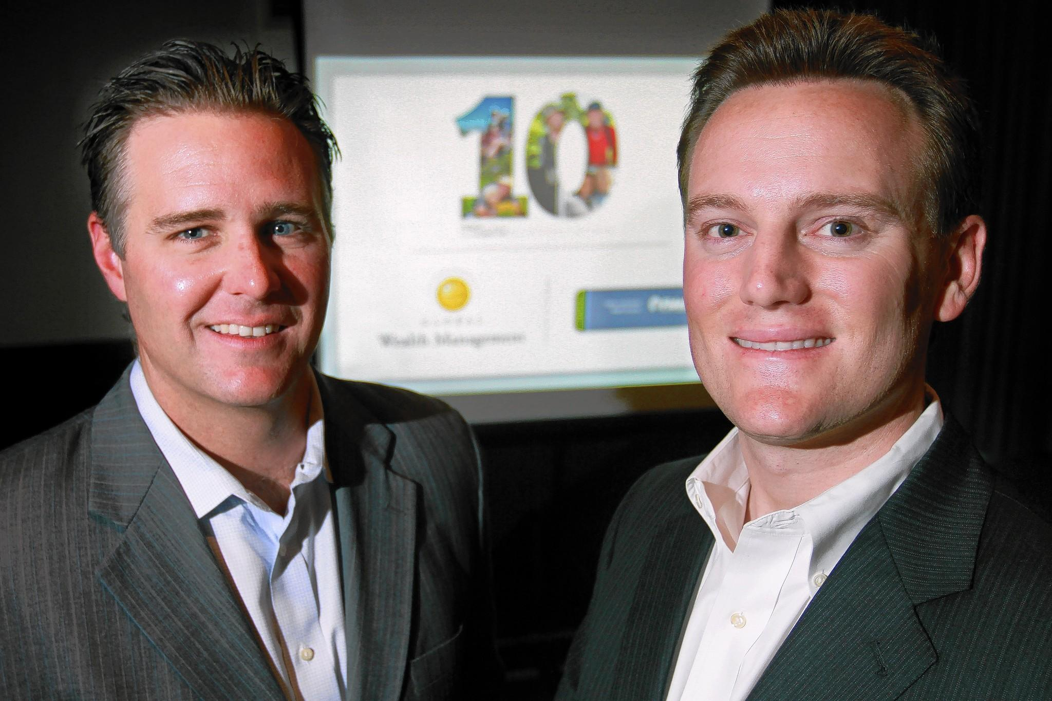 Grant Conness, 35, left, and Andrew Costa, 31, are Broward natives who now lead Global Wealth Management in Fort Lauderdale.